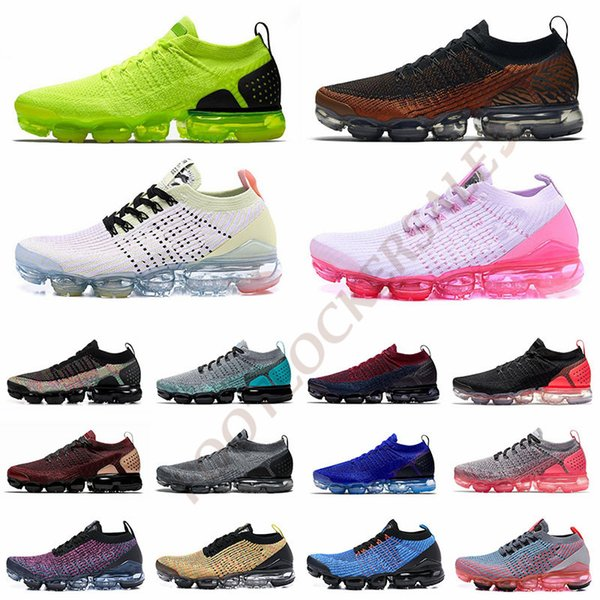 best selling 2019 Cushions Fly 2.0 3.0 Running Shoes Volt Triple Black Rainbow Zebra Tiger Mens Trainers Women Athletic Designer Sneakers Size 5.5-12