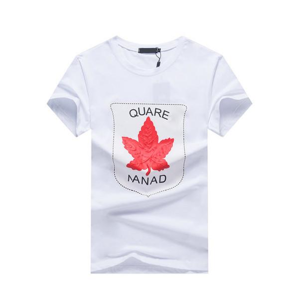 19ss camisetas para hombre DS2 Diseñador de la marca T-shirt Camiseta con estampado de hoja de arce Transpirable Nueva camiseta de venta de moda Camiseta de explosión de gran tamaño