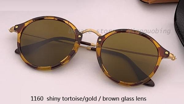 1160 shiny tortoise gold/brown lens