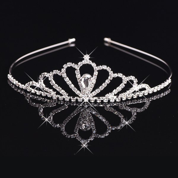 Girl's Tiaras Wtih Rhinestones Crystals Hair Accessories Evening Prom Party Performance Pageant Tiaras and Crowns For Girls DB-026