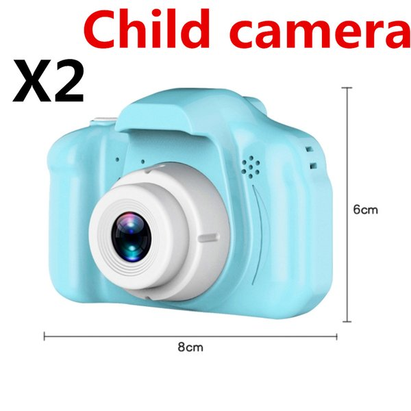 top popular X2 The latest Children's camera Mini Digital Camera 2inch Cartoon Cute Camera Toy Children the best Gift 1080P DH Toddler DHL free shipping 2021