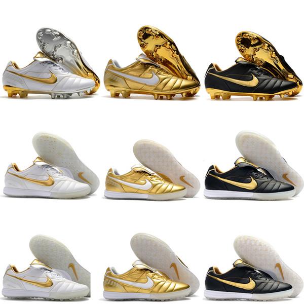 Compre 2019 Zapatos De Fútbol Para Hombre Tiempo Legend 7 R10 Elite TF IC Botas De Fútbol Para Interiores Botas De Fútbol Para Exteriores Scarpe