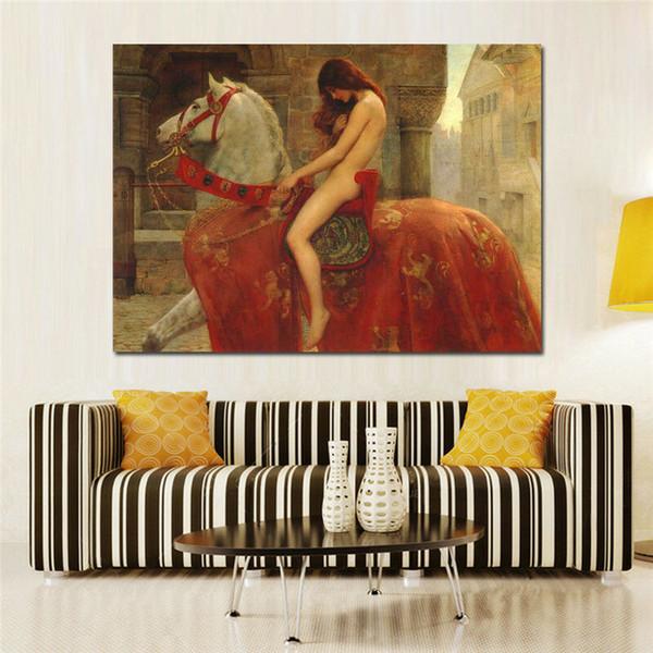 Pintura nova Huge 100% pintado à mão abstrata moderna Figura óleo sobre tela belas pinturas menina nu Início / Wall Decor Art A-68-2