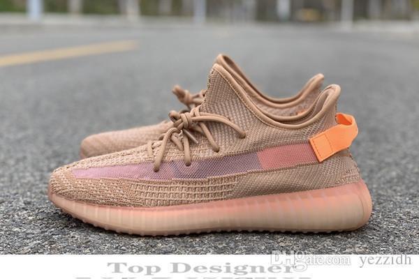 2019 Kanye West V2 500 Erkekler Desinger Kadınlar Eğitmenler Zebra Statik Siyah Krem Beyaz Susam İyi Spor Zapatos Sneakers IB7 Bred Koşu Ayakkabıları