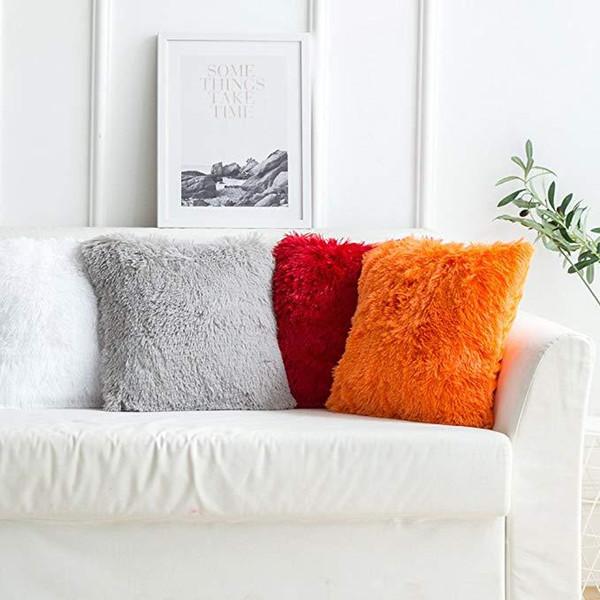 Cuscini In Pelle Per Divano.Acquista Copertura Della Cassa Del Cuscino Throw Pillow Covers