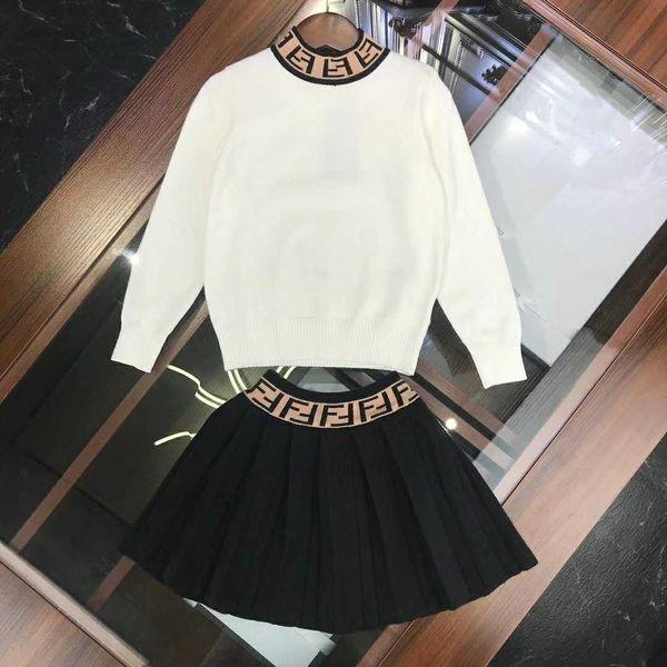 2019 новый детский свитер мальчиков и девочек роскошный свитер письмо + юбка костюм