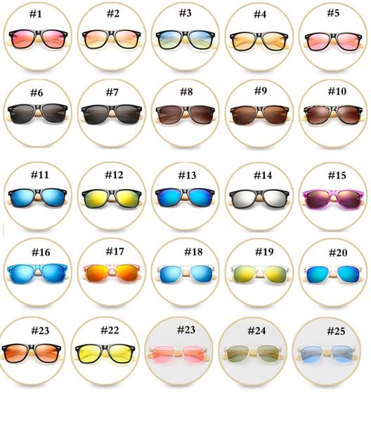 47 Color de madera gafas de sol polarizadas de bambú Piernas gafas de sol de moda gafas de montar al aire libre gafas de sol para hombre y para mujer