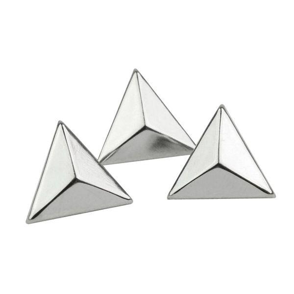 Punk Rock 15mm Silver Triangle Rivets Spike Studs Bag Belt Leathercraft Clothes DIY Accessories Craft 200pcs/set