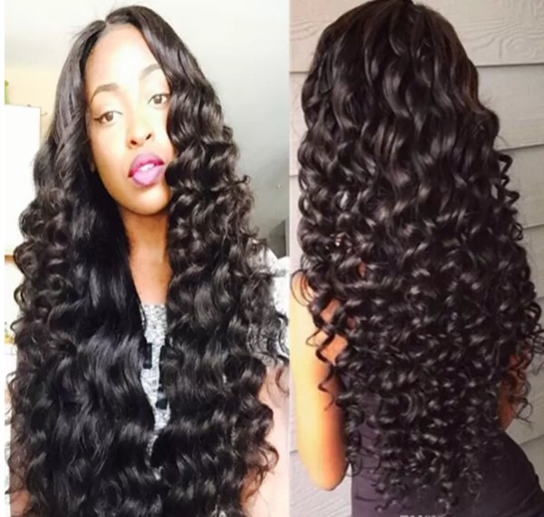 Malaysian Hair Deep Wave Full/Front Lace Human Hair Wigs with Bleached Knots 130 150 180%Density With Natural Hairline Popular Free Shipping