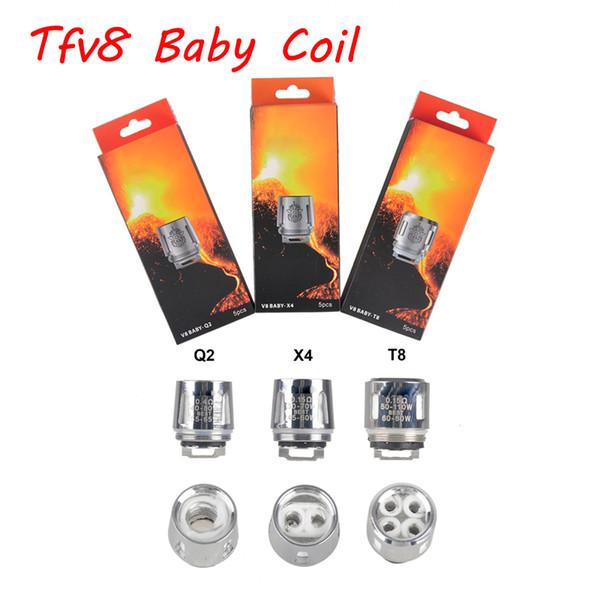 Cabeza de la bobina del bebé de la calidad superior Tfv8 V8 Baby-T8 T6 X4 Q2 0.4ohm 0.6ohm M2 Bobina de la bestia de la nube DHL libre