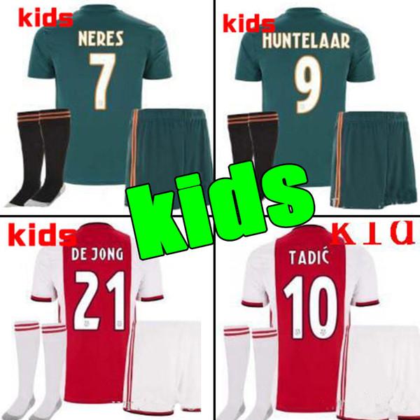 2019 2020 Ajax FC Calcio maglie casa bambini 19/20 personalizzato # 7 NERES # 10 TADIC # 4 DE LIGT # 22 Maglia calcio ZIYECH