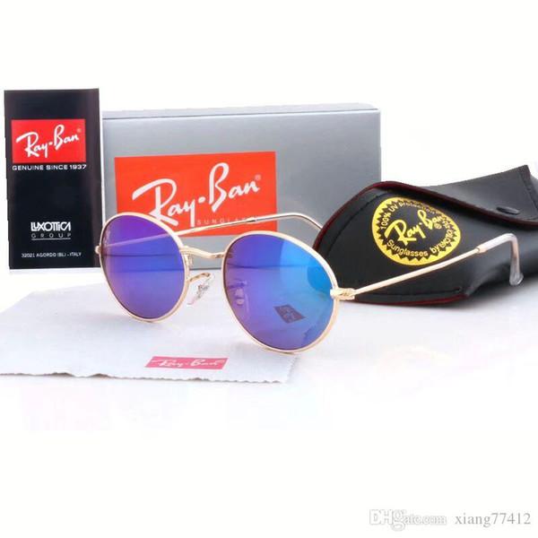Luxury 3262478 Sunglasses For Men Popular Oval Frame design UV Protection Lens Coating Mirror Lens Color Plated Frame Top quality