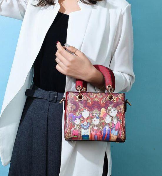 Лесная серия 2018 весна новая маленькая сумка модная девушка печати одно плечо косой крест женская сумка мода универсальная сумка