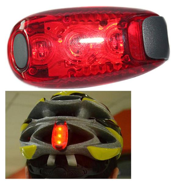 Vélo vélo lumières super lumineux 3 LED vélo lumière feu arrière avertissement de sécurité luz bicicleta alpinisme sac à dos casque runn