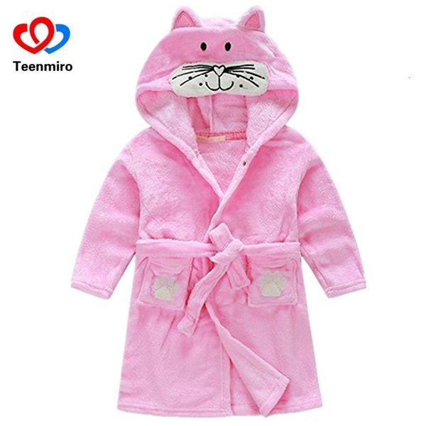 Baby Boys Velvet Sleepwear Robes Children Bathrobes Pajamas for Girls Kids Coral Clothes Toddler Cartoon Pijamas Kids Bath Robes SH190912
