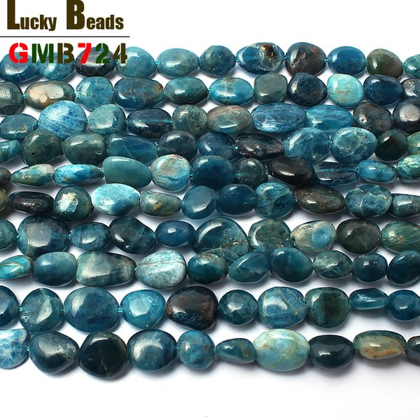 for jewelry making 8-10mm irregular natural genuine blue apatite beads for jewelry making 15inches natural stone beads diy bracelet