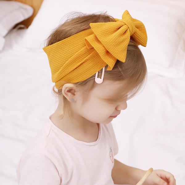 Novo 16 cores Ins Europa Bebê Meninas Big Bowknot Headband Crianças Camadas Duplas Arco Hairband Crianças Bandanas Headwrap Head Band