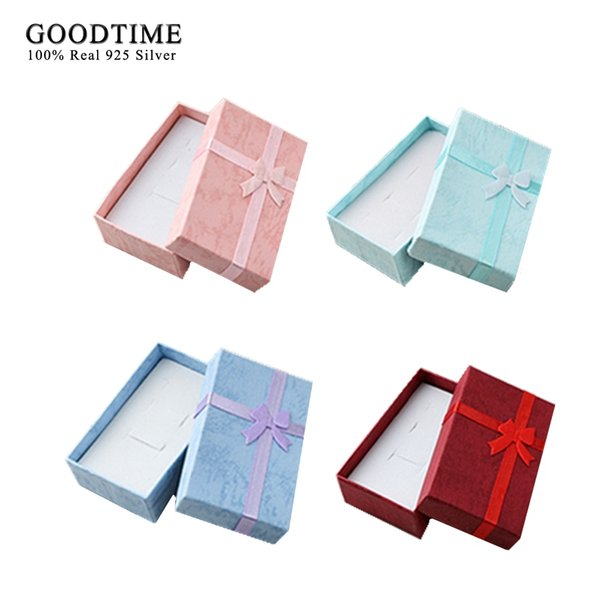 Bowknot Jewelry Box 24pcs /lot Jewellery Boxes and packaging Display Box 8x5cm Earrrings Ring Necklace Sets Gift Box for Jewelry