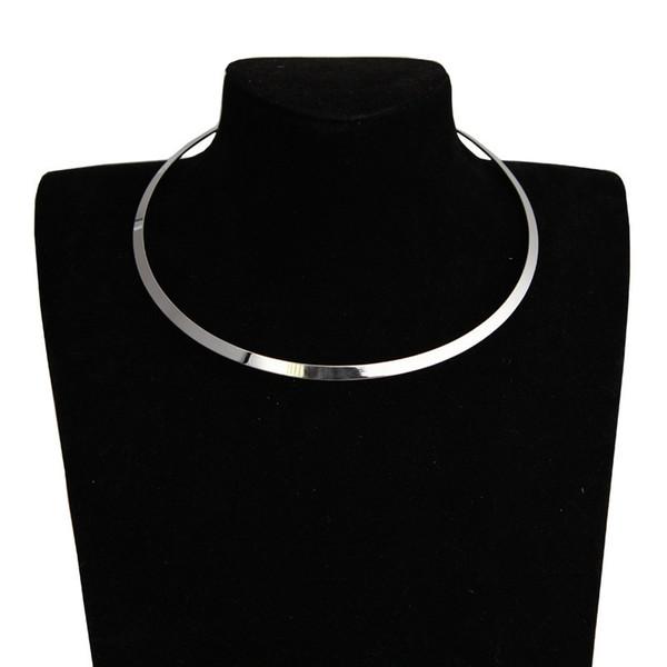 Ruban Collier en métal rond déclaration Déclaration style Punk couples collier bijoux cadeau amoureux de la Saint Valentin pour femme fille