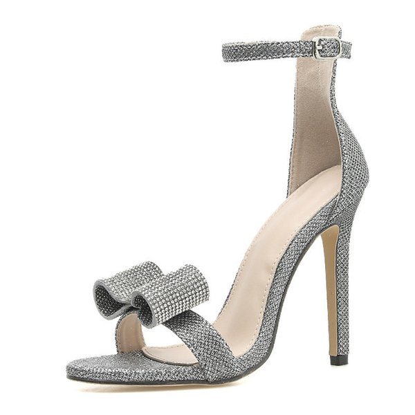 Fashion Ladies Sexy Super High Thin Heel Sandals Peep Toes Club Shoes Woman 2019 New Ankle Strap Elegant Party Sandals