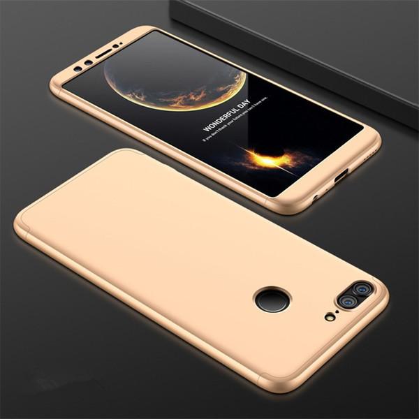 La nueva funda para teléfono 3 en 1 para Huawei Honor Play 7X Carcasa para teléfono móvil Empalme para PC Carcasa dura 360 Cubierta completa Cubierta protectora para teléfono esmerilada
