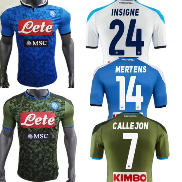 2019 2020 Reus Ronaldo Player Version soccer jerseys Napoli football Jerseys Shirt 19 20 Naples home LOZANO HAMSIK L.INSIGNE PLAYER Shirt