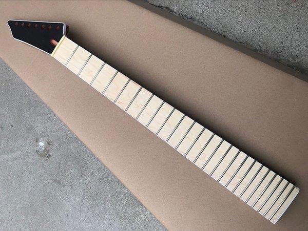 Padrão de fábrica personalizado 6/7 cordas de mogno braço da guitarra elétrica com 24 trastes, braço de bordo, voluta de volta, oferecendo serviços personalizados