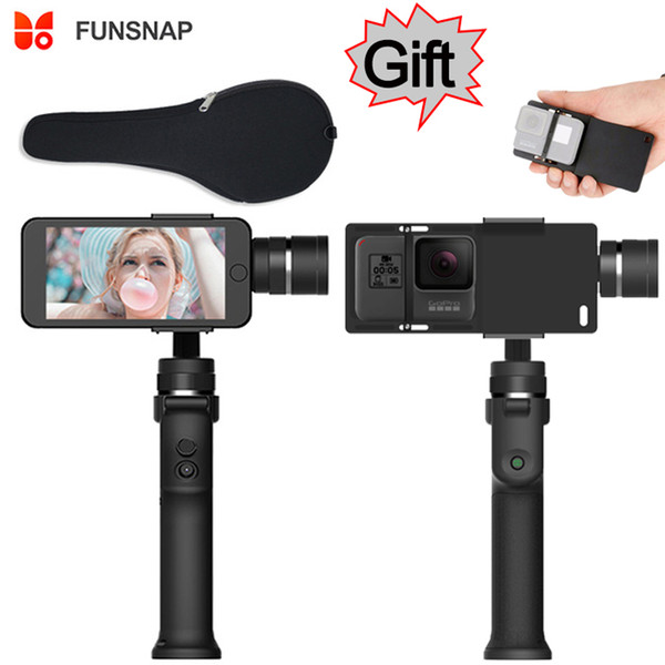Funsnap Capture 3-axis Phone Handle Gimbal Stabilizer steadicam for Smartphone iPhone X 8 VS Zhiyun Smooth 4 Feiyu Vimble 2