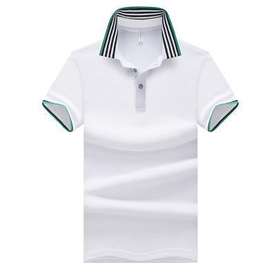 Mens Polo T Shirts 2019 Nova Chegada Casual Homens Polos Magro Masculino Tees de Verão Marca Respirável T Camisas Mens Cor Sólida Polos Tamanho Grande M-5XL