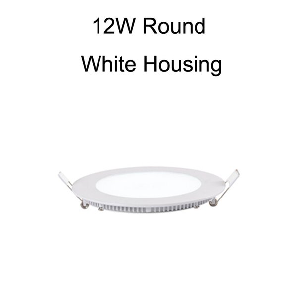 12W Round White Housing