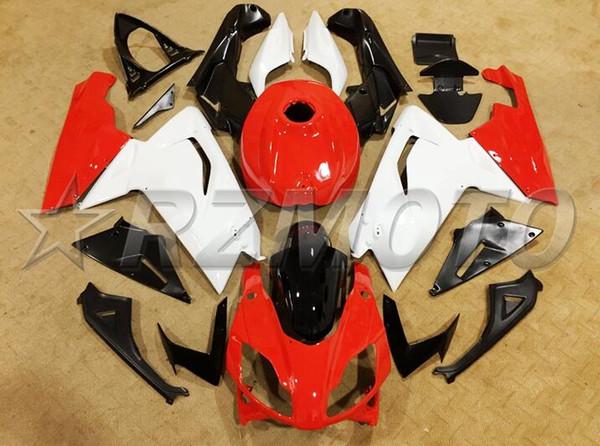 Nuevo kit de carenado completo ABS de la motocicleta + cubierta del tanque adecuado para Aprilia RS125 06 07 08 09 10 11 RS 125 2006 2011 Conjunto de carenados bonito blanco rojo