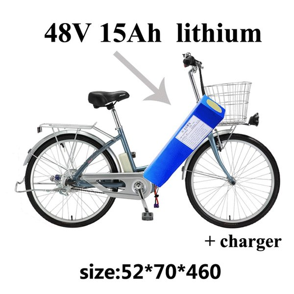 lithium battery 48v 15ah bateria 48v lithium ion battery with bms for electric bicycle 750w electric vehicle Folding + Charger