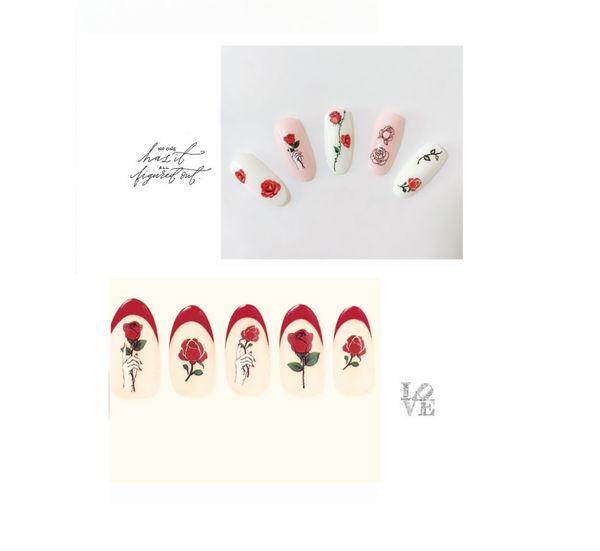 heiße Mode Nagel Dekoration Salons Glitzer Nail Art Sticker Nagel Patch Blumen Designs Maniküre Tool Tipps