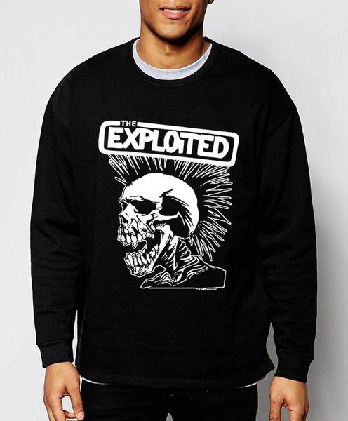 Mens Sweatshirts Punk Rock La Nouvelle Exploité Automne Hiver Sweats À Capuche Hip Hop Survêtement Drôle Vêtements