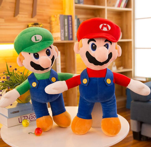 25cm 35cm 40cm Super Mario Bros Plush Toy Mario And Luigi Stuffed Animals Plus Toys For Gifts free shipping
