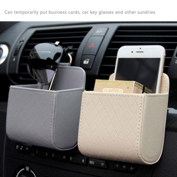 1 PC سيارة التخزين دلو المحمولة المعلقة جلدية سيارة حقيبة الهاتف عملة مفتاح منظم المال حامل تستيفها الترتيب والتنظيم