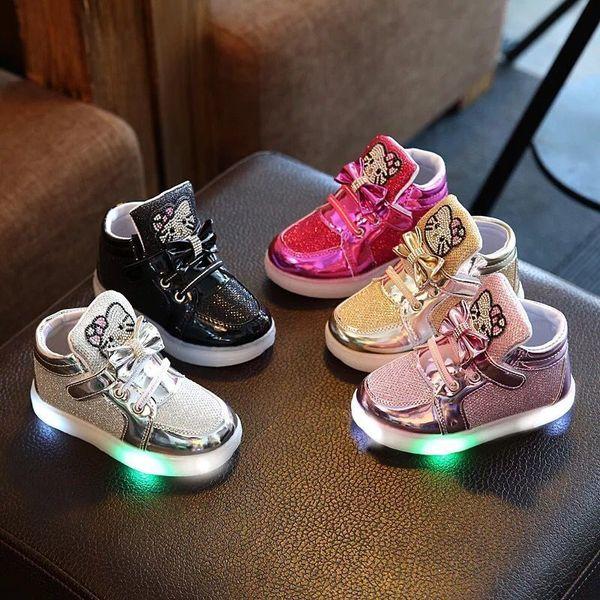 1-6 Years Children Luminous Boys Girls Sport Running Shoes Baby Flashing Lights Fashion Toddler Little Kid LED Sneakers