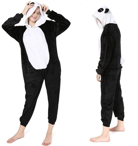 rivenditore di vendita a2764 36860 Acquista Nuovo Paio Di Flanella Animale Pigiama Congiunto Rosso Lacrima  Panda Fumetto Pigiama Siamese Uomo Donna Autunno Inverno Vestaglia Pigiama  ...