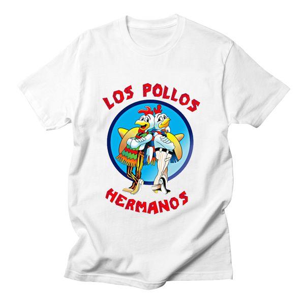 Hermanos Hommes T-shirts Rétro T-shirt TV M. White Jessie Pinkman drôle d'été pour les hommes Tops 2018