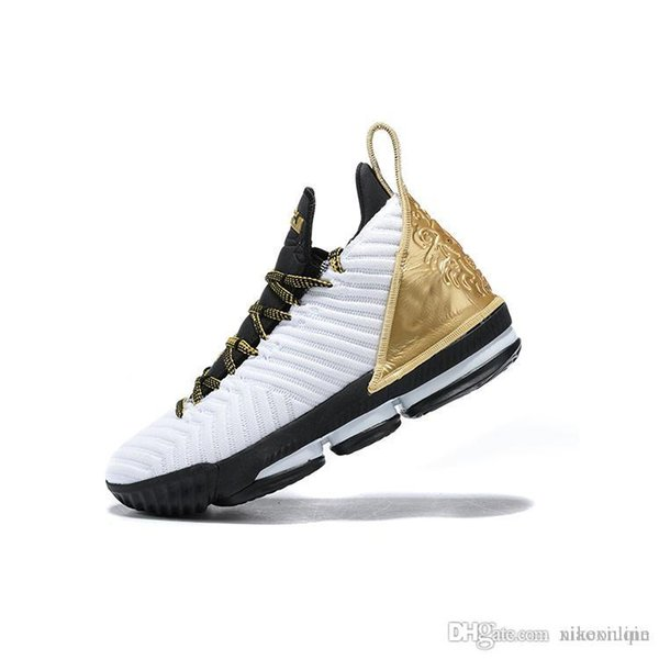 New mens lebron 16 basketball shoes BHM White Gold Black Watch MPLS Wolf Grey Equality youth kids lebrons XVI sneakers tennis with box