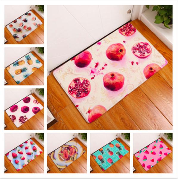 Strawberry Pineapple Pomegranate Doormat Bath Kitchen Carpet Decorative Anti-Slip Mats Room Car Floor Bar Rugs Door Home Decor