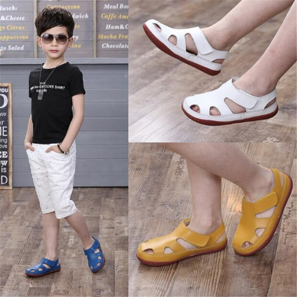 Hot Sale Kids Sandals Genuine Leather Shoes For Girls Y19051303