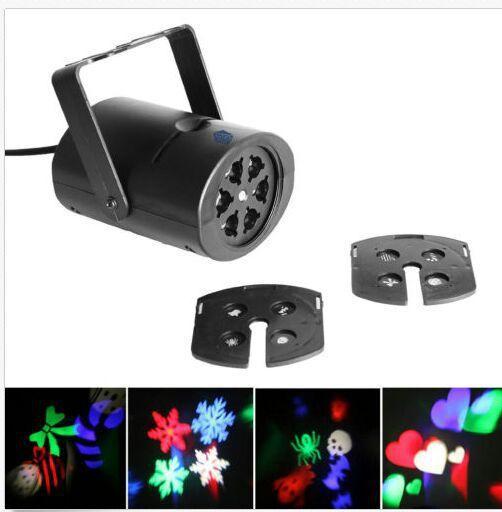 Multi-cor levou luz laser movendo rgbw projetando luzes led whit 4pcs switchable padrão lente decoração do partido mma1115 50pcs