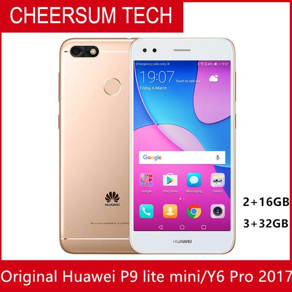 Compre Desbloqueado Atacado Huawei Y6 Pro 2017 Telefone Móvel 5 0 Polegada  Android 7 0 Snapdragon 425 Quad Core Dual Sim Impressão Digital De Allen