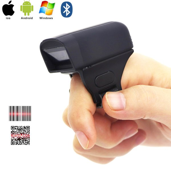 RS40 sem fio Mini Qr Code Wearable Anel Bluetooth 2D Barcode Scanner Dedo Tipo Anel Scanner
