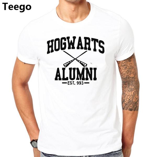 새로운 참신 디자인 호그와트 동창 T 셔츠 남성 여성 해리 재미 포터 T 셔츠 짧은 소매 O 목 코튼 티셔츠 남성 의류