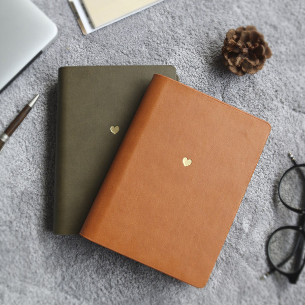 """dear Moment"" Traveler Notebook Journal Diary Faux Leather White Blank Papers Business Memo Notepad"