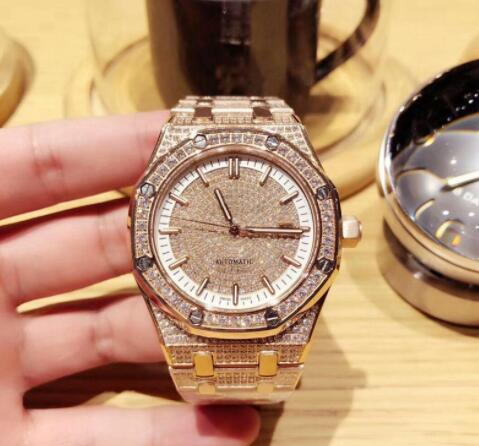 Factory New Product Quality 26322 Men's Diamond Stainless Steel Watch Automatic Mechanical Upper 42mm Men's Diamond Watch
