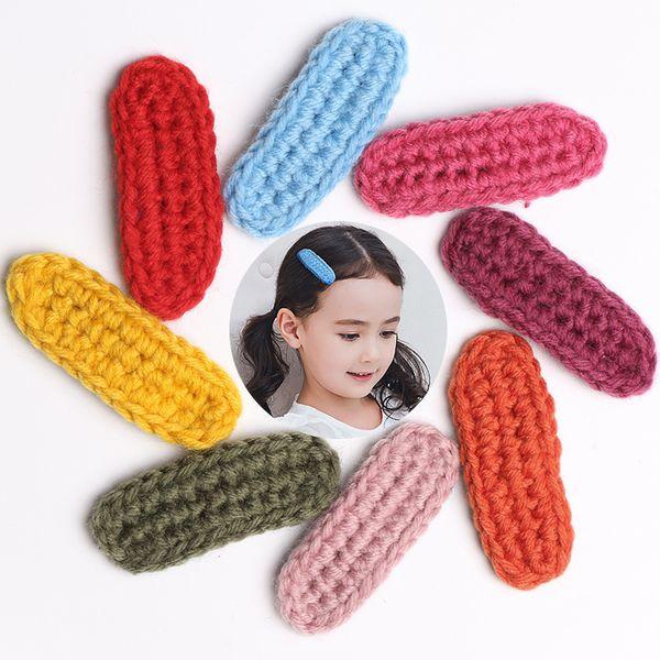 Wholesale Knitting Wool Modish Girls Hair Clips Simple Design Winter Girl Hairpin Prince Cute Hair Barrettes BB Clips Headwear