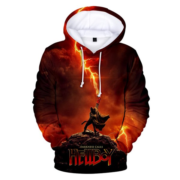 Hot Fantasy Action Film Hellboy : Rise of the Blood Queen 3D Print Character Monster Hoodies Young People Sweatshirt Casual Tops